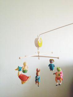 Vintage Beatrix Potter Mobile -1976 Nursery Charm.