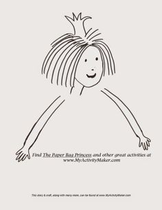 The paper bag princess activities and why we love for Thomas snowsuit coloring page