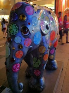 From the Elephant Parade~The elephant parade is an initiative to raise funds and support Asian elephant conservation.
