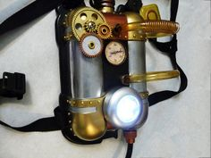 Steampunk child's jet pack with light   Flickr - Photo Sharing!