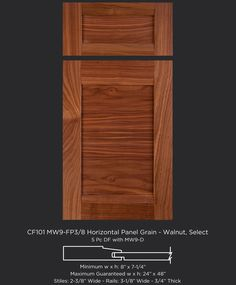 Modern slab veneer edgebanded cabinet door in Select Maple by ...