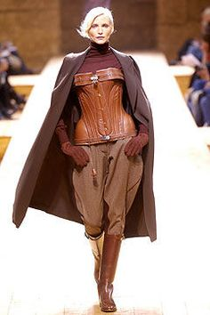 Hermes a/w 2004. Leather corset ugliest this I've ever seen! Hideous!!
