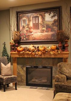 Fall mantle via Kristen's Creations