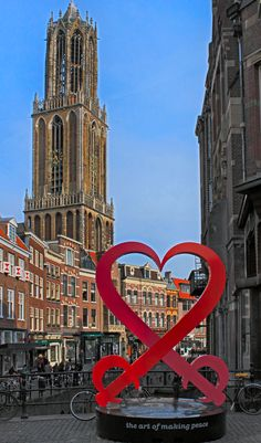 Dom tower, Utrecht, the Netherlands. (300 years Peace of Utrecht) by: harry eppink