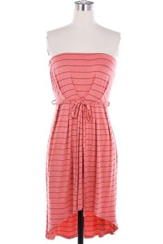 Pencil Me In Tube Top Dress - Coral