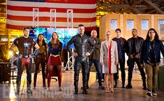 All In The Family: Inside DC's Ultimate Superhero Crossover | Nick Zano, Maisie Richardson-Sellers, Melissa Benoist, Stephen Amell, Dominic Purcell, Emily Bett Rickards, Brandon Routh, David Ramsey, and Carlos Valdes | EW.com