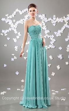 Faddish Wrinkled Strapless Empire Waist Chiffon Long Bridesmaid Dress