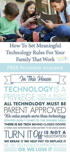 Do You Feel Like You Are Losing Your Kids To Technology? You can help them disconnect from tech and reconnect to you by setting family technology rules. Printable Included.#Kids #Technology #TechnologyRules #Printables #FreePrintables #TechRules #Family #Parenting Parenting Articles, Parenting Books, Gentle Parenting, Parenting Teens, Screen Time For Kids, Kids Sand, Parent Resources, Teen Quotes, How Are You Feeling