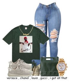 """Designer"" by royal-t-1 ❤ liked on Polyvore featuring Gucci, adidas Originals and Versace"