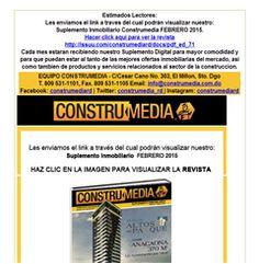 Suplemento Construmedia Febrero 2015, Descárgalo! - Publicidad