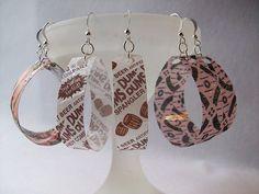 Recycled Bottle Earrings