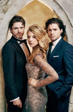 Richard Madden, Natalie Dormer and Kit Harington