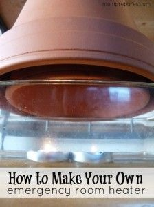 emergency heater...brilliant idea!
