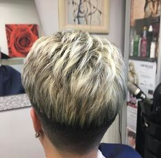 Short Hair Over 60, Really Short Hair, Short Hair With Layers, Short Hair Cuts, Short Wedge Haircut, Short Hairstyles Over 50, Buzzed Hair Women, Frosted Hair, Bleach Blonde Hair