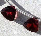 Trilliant → available in deep-red color with gem cut, Trilliant Shape. #GemstoneBeads