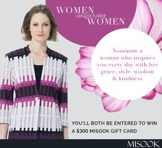Nominate your mom and win a 300 dollar Misook Gift Card! #misook