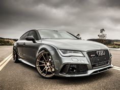 Audi RS7 on HRE's  I just jizzed my pants (original caption - as awesome as this car - sploosh)