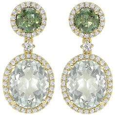 Green Tourmaline and Green Amethyst Oval Drop Earrings (261.970 RUB) ❤ liked on Polyvore featuring jewelry, earrings, drop earrings, oval earrings, green amethyst earrings, green tourmaline jewelry and earring jewelry