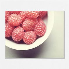 Kitchen Decor - Food Print - Red Raspberries Picture - Food Art - Kitchen Art - Food Photography - Lisa Russo Fine Art via Etsy #fpoe