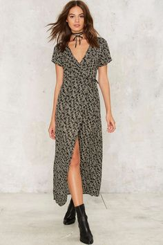 Floral to Ceiling Wrap Dress | Shop Clothes at Nasty Gal!