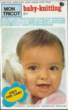 Mon Tricot No. Baby Knitting Patterns, Hand Knitting, Crochet Baby, Knit Crochet, Tricot Baby, 3 Years, Christening, 50th, Child