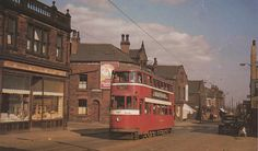 https://flic.kr/p/cqrbW9 | Tong Road junction Strawberry Lane,  Leeds 12.  1955. | A pleasant scene from the past,   as Feltham tram No 547 heads for  Leeds city centre. didn,t  require speed cameras on Tong Road in those days!