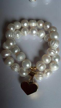 Pulsera doble perlas