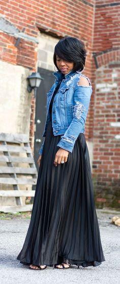Damen Jeansjacke in Parka Stil, Longjacke aus Tencel