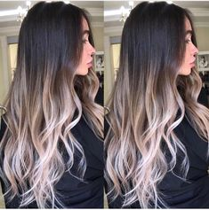 Are you going to balayage hair for the first time and know nothing about this technique? We've gathered everything you need to know about balayage, check! Blonde Balayage Highlights, Hair Color Balayage, Baylage Ombre, Ombre Hair Color For Brunettes, Balayage Hairstyle, Dark Roots Blonde Hair Balayage, Black Balayage, Brown Ombre Hair, Black To Blonde Hair