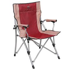 4c7059571f4 ALPHA CAMP Camping Chairs Oversized Support 300 lbs Ergonomic High Back  Folding Steel Frame Padded Armrest