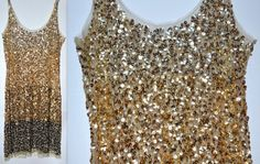 Vintage 90s Nude/ Black Sequin Bodycon Dress by JadoreTinaVintage, $52.00