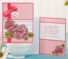 Pink Posy Mother's Day Card by @Debbie Olson