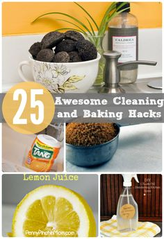 Check out this awesome list of 25 awesome cleaning and baking kitchen hacks! They will save you time AND money!