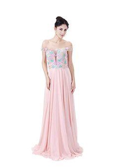COROLA DIOSA Women's Sleeveless Chiffon Evening Dresses Off Shoulder Party Dress Pink (8) Chiffon Evening Dresses, Prom Dresses, Formal Dresses, Off The Shoulder, Shoulder Dress, Pink Dress, Party Dress, Fashion, Dresses For Formal