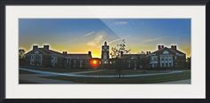 """""""Murray State Dusk"""" by Kyle Ferguson, Huntsville // Building on campus at Murray State University at dusk with the light of the setting sun shining thru the windows // Imagekind.com -- Buy stunning fine art prints, framed prints and canvas prints directly from independent working artists and photographers."""
