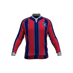 6acffee65 MLS New England Revolution Mens Original Striped Long Sleeve Cycling Jersey  XXLarge Red   Read more at the image link.