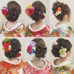 いいね!940件、コメント1件 ― R.Y.K Vanilla Emuさん(@ry01010828)のInstagramアカウント: 「和装ヘアまとめ すべて色打掛です♪ 桜のシーズンのロケーション撮影は大人気です! ご予約はお早めに お願い致します(^^) お花の髪飾りの販売もしております。 HP…」 Wedding Kimono, Hair Arrange, Hair Setting, Japanese Hairstyle, Wedding Hairstyles, Cool Hairstyles, Hair Ornaments, Hair Pieces, Hair And Nails