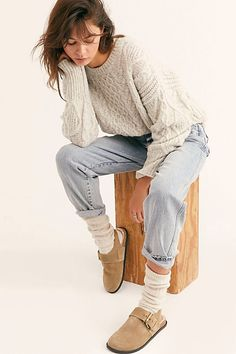 Apr 2020 - Seattle Sling Back Flat - Free People Shoes - Sling Back Shoe - Buckle Shoe - Leather Shoe - Open Heel Shoe Fall Winter Outfits, Autumn Winter Fashion, Summer Outfits, Summer Shorts, Fall Fashion, Clogs Outfit, Birkenstock Outfit, Birkenstock Boston, Fashion Outfits