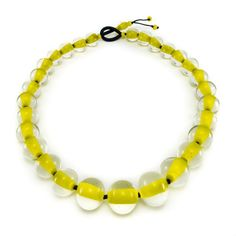 Biglia Yellow - Handmade Contemporary Glass Necklace by Cosima Montavoci. Handmade with Love in Amsterdam. - 1