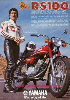 The Yamaha RS 100 was my very first motorbike, it cost me brand new in 1976 Dt Yamaha, Yamaha Motorcycles, Motocross, Honda Cub, Bike Photography, Motorcycle Posters, Motorcycle Manufacturers, Japanese Motorcycle, Old Advertisements