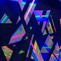 Cardboard Triangles + Neon Colored Duct Tape