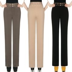 Find More Information about free shipping OL autumn winter spring high waist straight casual pants female loose plus size  trousers wide leg women pants,High Quality pants female,China women denim pants Suppliers, Cheap pants children from mccarthy fashion  store on Aliexpress.com