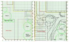 Изначальная планировка - прямые линии, справа - более подходящий вариант