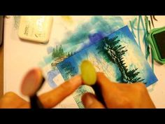 Stampscapes 101: Video 47. Crystal Clear Waters. - YouTube