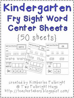 Free Sight Word practice pages - Click image to find more Kids Pinterest pins