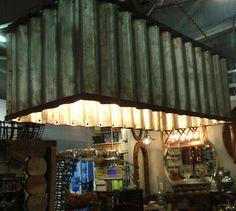 Corrugated Metal Chandelier