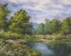 Afternoon at Ruth's Pond by Andrew Orr Oil ~ 16 x 20