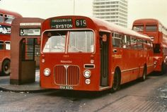 Midland Red single decker at St. Blue Bus, Red Bus, Transport Museum, Public Transport, Bedford Buses, Michael Carter, Custom Campers, Buses And Trains, Bus Coach