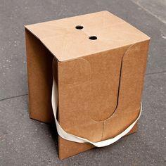 Taburete Pliable en carton