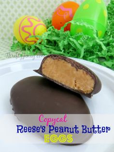 This Copycat Reese's Peanut Butter Eggs Recipe lets you make your favorite Easter treat in your own kitchen! Recipe makes 10 eggs in just over 30 minutes.